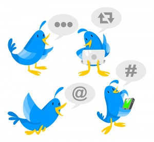 Twitter bird cartoon
