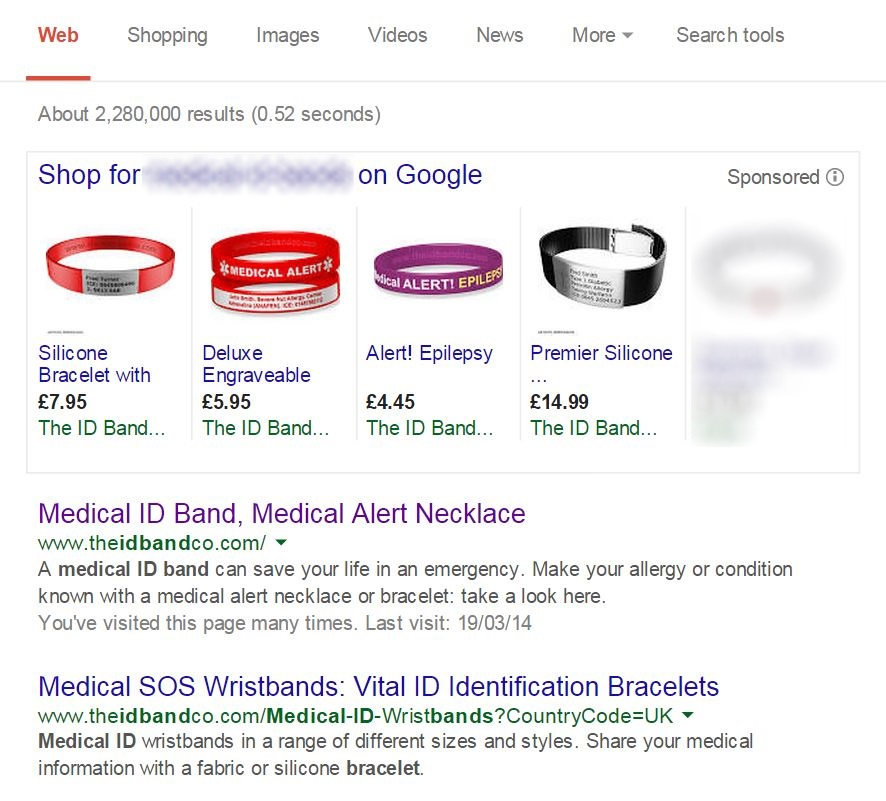 The ID Band Company AdWords
